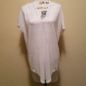 Jordan Taylor mesh swimsuit coverup.